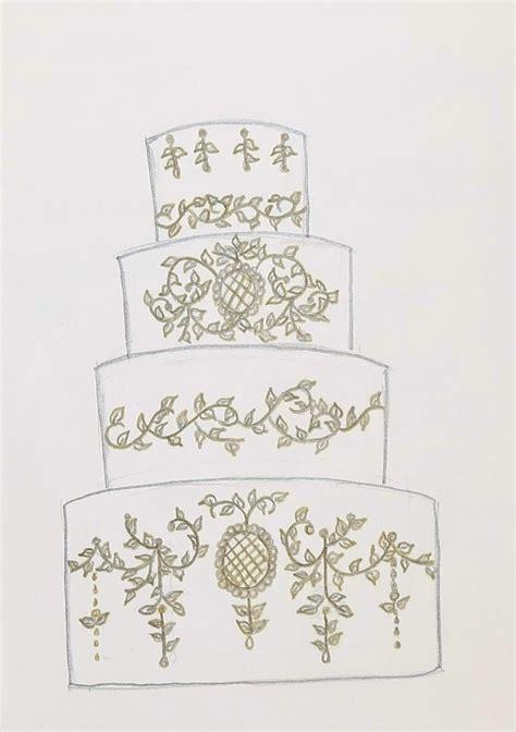 Wedding Sketch by Wedding Cake Sketch Cakecentral