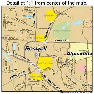 map of roswell roswell map 1367284