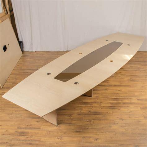 Oak Boardroom Table Washed Oak Veneer 5000x1600 Boardroom Table