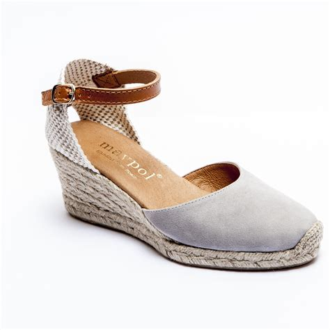 espadrille co uk grey mid heel wedge espadrilles womens