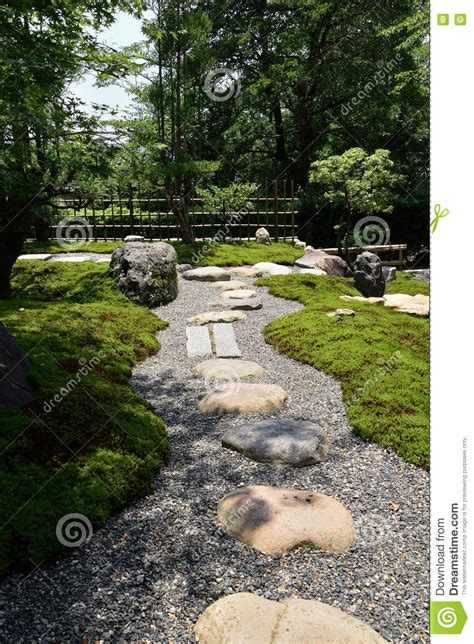 path of rock garden kyoto japan stock photo image