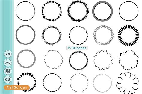 simple circle png frames brushes brushes creative market