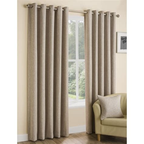 boucle curtains boucle parchment plain ready made curtains 229 x 183cm