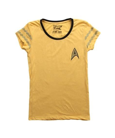 T Shirt Gold As Fck womens trek starfleet gold t shirt