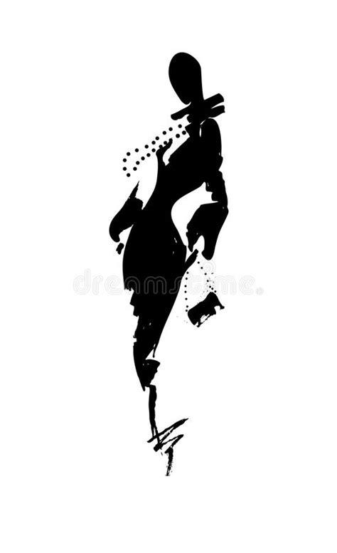 fashion illustration using ink fashion illustration a in dress ink stock