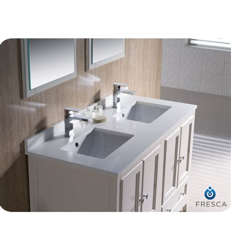 48 bathroom vanity double sink 48 quot fresca oxford fvn20 2424aw traditional double sink
