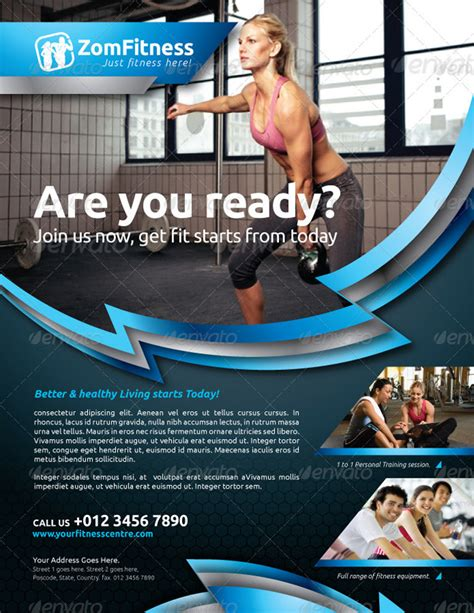 15 Premium Sport Flyer Template Designs Fitness Poster Template Free