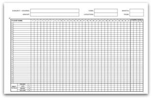 Monthly Class Attendance Template by Printable Attendance Calendars