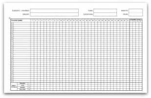 classroom register template printable attendance calendars