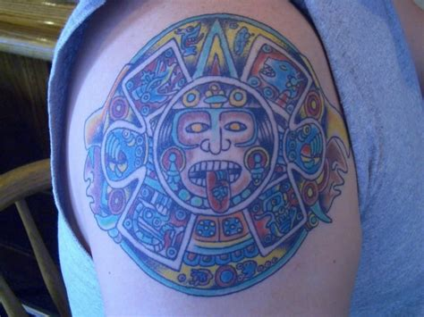 colorful sun tattoo designs 60 inspiring aztec tattoos ideas
