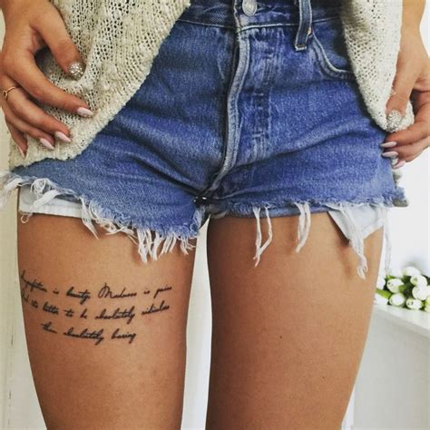 tattoo quotes for thigh 25 best ideas about thigh quote tattoos on pinterest