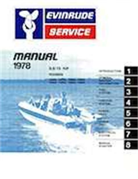 1978 Evinrude Outboards 9 9 15hp Service Manual 13 95