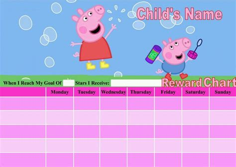 picture of the peppa pig reward chart download the free personalised peppa pig reward chart potty training