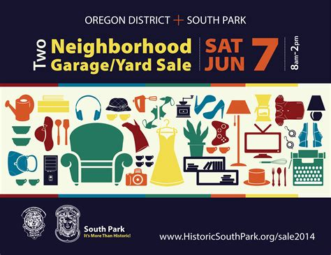 two neighborhood wide garage yard sales historic south park
