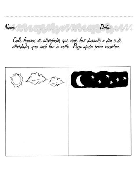 Atividades sobre dia e noite para os pequenos! ~ ESPAÇO