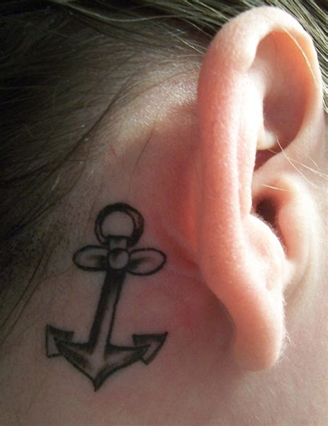 anchor tattoo behind ear meaning 40 anchor tattoo meaning and designs