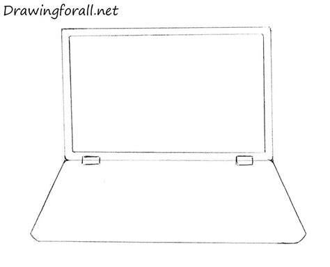 how to draw on a computer how to draw a laptop drawingforall net