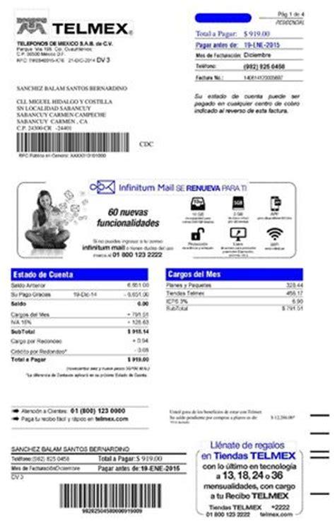 plataforma mexico recibos de pago del df calam 233 o recibo telef 211 nico