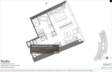 Bellagio Floor Plan by Vdara Studio Plans