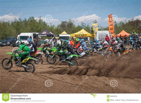 local motocross races motocross start editorial stock photo image 52525913
