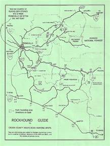 rockhounding map prineville oregon and