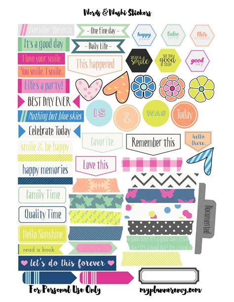 free printable planner labels my planner envy patterned checklist squares bonus words