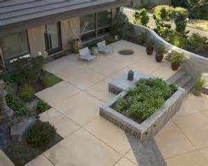 Poured Concrete Patio Designs Contemporary Spaces Concrete Poured Stepping Stones Patio