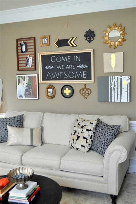 diy living room makeover diy black gold gallery wall free printables diy living