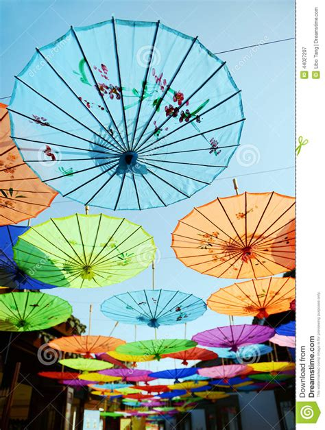 X2 3746 St Umbrella ancient decorative umbrella stock image image 44027207