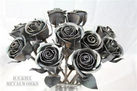 Wedding Anniversary Metals by 11th Anniversary Gift 11 Steel Roses Metal Bouquet