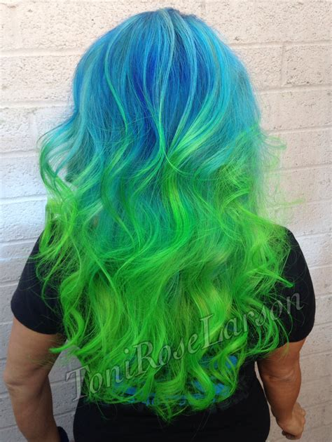 blue green hair color how to blue green colormelt hair color modern salon