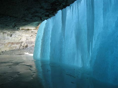 frozen waterfalls picture of the day behind a frozen waterfall 171 twistedsifter