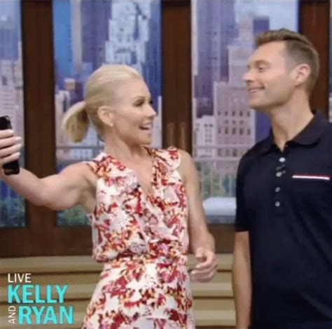live with kelly and ryan smile gif find & share on giphy