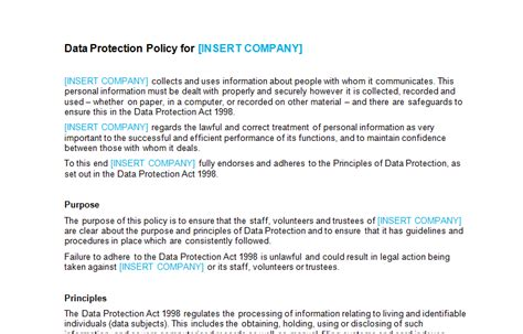 data security policy template hr policy forms handbooks page 5 of 8 bizorb
