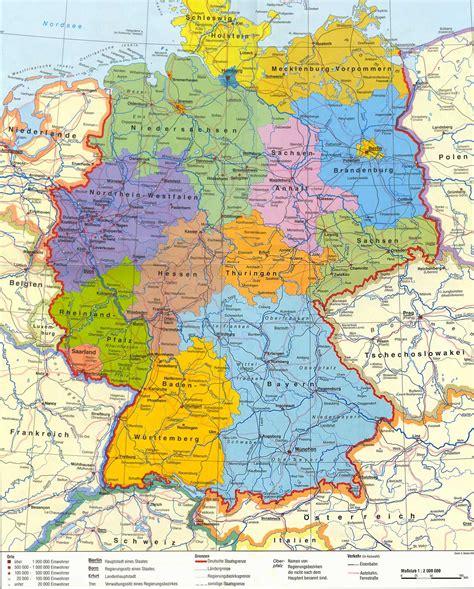 mapa deutschland bundesrepublik deutschland karte