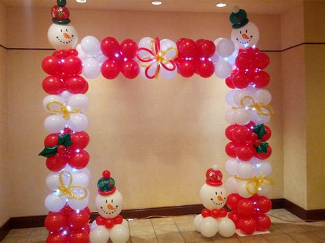 christmas theme balloon arch 2013 christmas party ideas