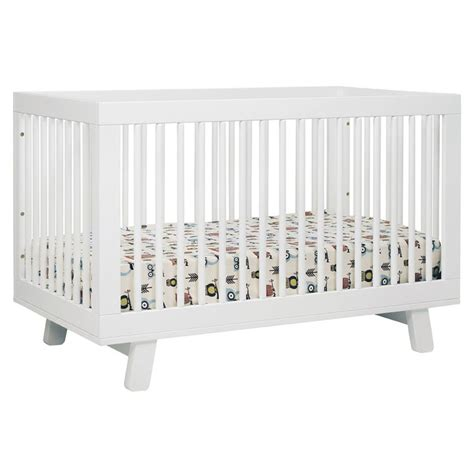 white hudson convertible crib by babyletto