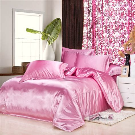 satin bedding sets pink satin comforter promotion shop for promotional pink