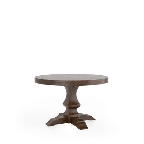 canadel trn4848pw f loft dining table with pedestal
