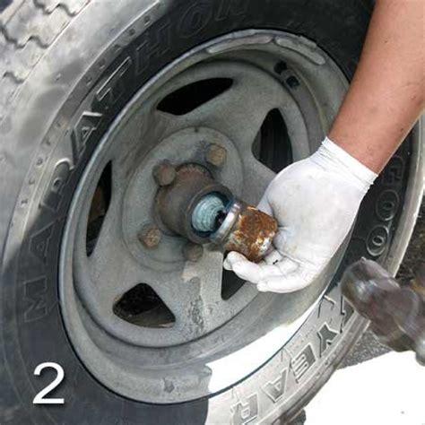 repacking trailer tire bearings trailering boatus magazine