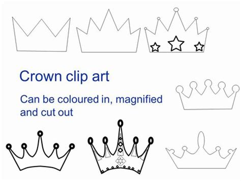 make your own tiara template crown clip