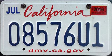 Ca Vanity Plates by California Motorcycle License Plate Image Mag