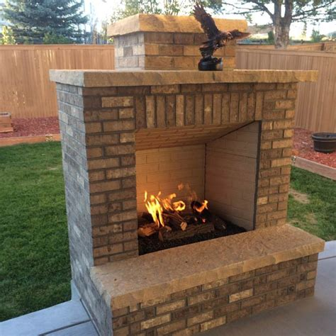 custom outdoor fireplace or pit archadeck outdoor