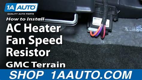 install replace ac heater fan speed resistor gmc