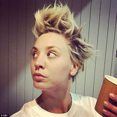 big theory hair why kaley cuoco shares makeup free snap while showing off wild