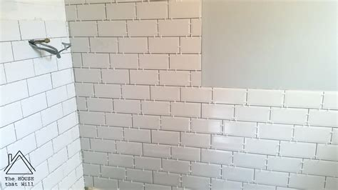 tile pattern in thirds diy wall tiles