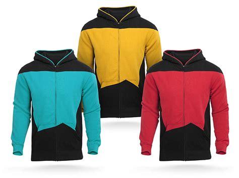 Jaket Zipper Hoodie Sweater Startrek Hitam trek tng hoodie thinkgeek
