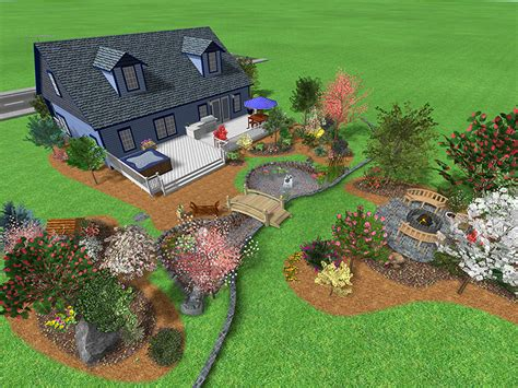 Landscaping Ideas For Large Backyards Landscape Design Software Gallery Page 1