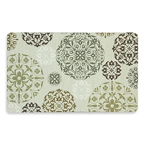 mohawk home comfort mohawk home tossed medallion comfort plush mat in brown