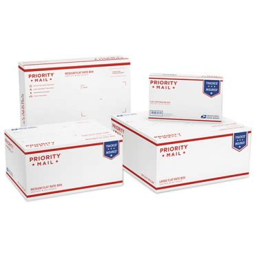 paquete variado de cajas flat rate (tarifa fija) para
